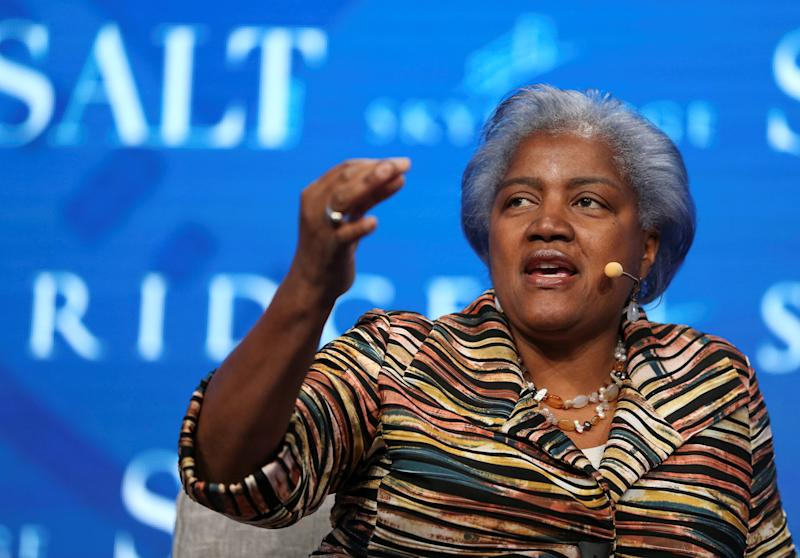 "Donna Brazile was the interim chair of the Democratic National Committee during part of Hillary Clinton's run for president. Her new book, Hacks, is subtitled: ""The Inside Story of the Break-ins and Breakdowns That Put Donald Trump in the White House."" (Richard Brian / Reuters)"