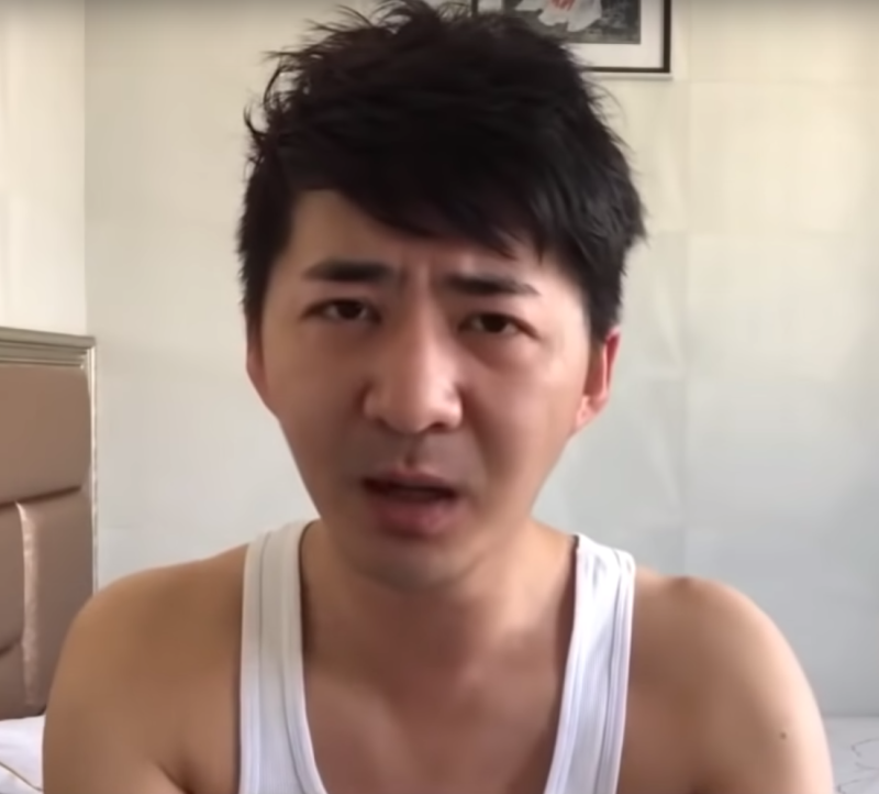 Chinese journalist Chen Qiushi in a YouTube video speaking about coronavirus conditions in Wuhan.