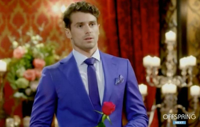 It's the ultimate Bachelor cliffhanger that's left fans on the edge of their seats. But is Matty J really putting down a red rose to stop the rose ceremony in last night's episode of the Channel Ten reality show? Source: Channel Ten