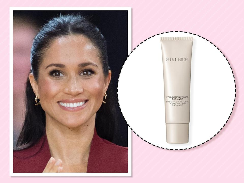 "<p>When you have skin like Markle's, makeup is the least of your worries. ""I don't wear foundation unless I'm filming, so this is what I put on every day after moisturizer to give my skin a dewy glow,"" she <a href=""https://beautybanter.com/banter-babe-meghan-markle"" rel=""nofollow noopener"" target=""_blank"" data-ylk=""slk:told Beauty Banter"" class=""link rapid-noclick-resp"">told Beauty Banter</a>. (Photo: Getty Images)<br><strong><a href=""https://fave.co/2Psnctt"" rel=""nofollow noopener"" target=""_blank"" data-ylk=""slk:Shop it"" class=""link rapid-noclick-resp"">Shop it</a>:</strong> $38, <a href=""https://fave.co/2Psnctt"" rel=""nofollow noopener"" target=""_blank"" data-ylk=""slk:sephora.com"" class=""link rapid-noclick-resp"">sephora.com</a> </p>"