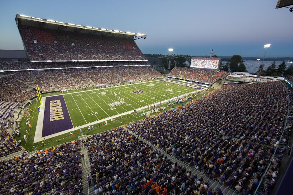 Husky Stadium in Seattle, posted by u/surreptitioussloth. (Getty)