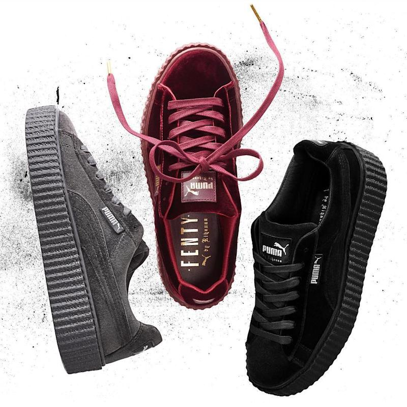 c2502384289e Rihanna s Latest Fenty x Puma Creepers Are Velvet