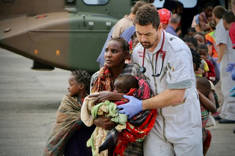 Emergency cases have been arriving at Beira airport but doctors at the hospital are struggling to cope with the influx -- supplies of blood and diesel are dwindling and the operating theatres have been wrecked