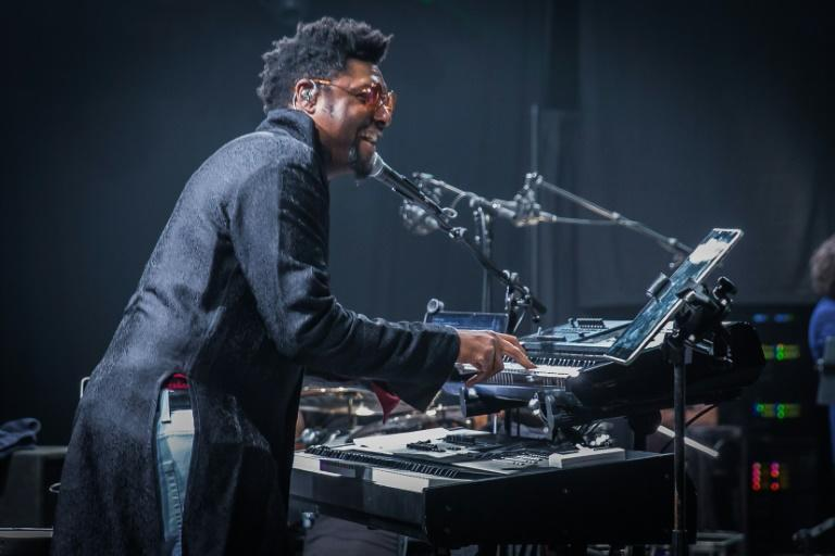 """Morris Hayes -- Prince's longtime keyboardist and musical director, show here during a soundcheck -- co-produced the late artist's """"Welcome 2 America"""" album"""