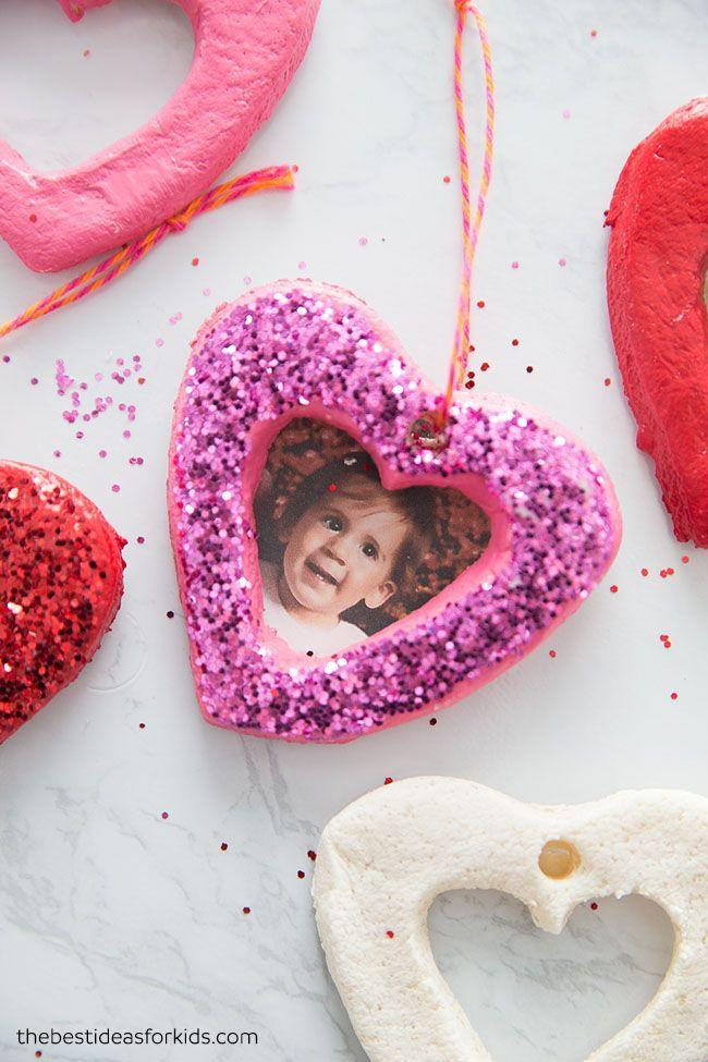 "<p>Salt dough is simple and affordable to make; in this project, it becomes charming heart-shaped photo frames. Cut the dough with heart cookie cutters, and decorate with paint and glitter.</p><p><em><a href=""https://www.thebestideasforkids.com/salt-dough-heart-ornament/"" rel=""nofollow noopener"" target=""_blank"" data-ylk=""slk:Get the how-to at The Best Ideas for Kids»"" class=""link rapid-noclick-resp"">Get the how-to at The Best Ideas for Kids»</a></em><br></p><p><strong>RELATED</strong>: <a href=""https://www.goodhousekeeping.com/holidays/valentines-day-ideas/a26863/valentines-day-facts/"" rel=""nofollow noopener"" target=""_blank"" data-ylk=""slk:14 Fascinating Valentine's Day Facts You Probably Didn't Know"" class=""link rapid-noclick-resp"">14 Fascinating Valentine's Day Facts You Probably Didn't Know</a><br></p>"