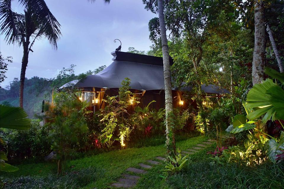 A villa at Capella Ubud, voted one of the best hotels in the world