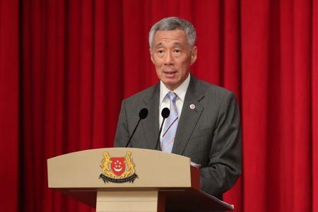 FILE PHOTO:  Handout photo of ASEAN working dinner hosted by Singapore's Prime Minister Lee Hsien Loong