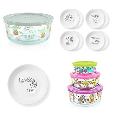 "<p>pyrexhome.com</p><p><strong>$10.00</strong></p><p><a href=""https://www.pyrexhome.com/product/4-cup-decorated-storage-star-warstm-child-snack"" rel=""nofollow noopener"" target=""_blank"" data-ylk=""slk:Shop Now"" class=""link rapid-noclick-resp"">Shop Now</a></p><p>Add a little bit of Jedi magic to snack time with the new Star Wars offerings from Pyrex and Corelle. The set includes snack plates, lunch plates and storage containers with cute versions of the best characters and scenes. Our favorite: a Baby Yoda snack storage container! We don't recommend putting The Child's favorite snack — live frogs — in it, but you do you.<br></p>"