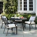 <p>Upgrade your outdoor dining area with the sleek style of the <span>Fairmont Stationary Patio Dining Chairs</span> ($260).</p>