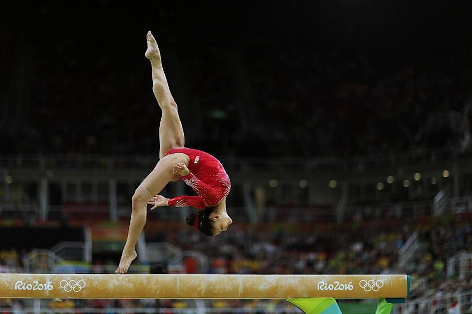 Laurie Hernandez performs on the balance beam in the individual competition at the 2016 Olympics in Rio. (Photo: Tim Clayton/Corbis via Getty Images)
