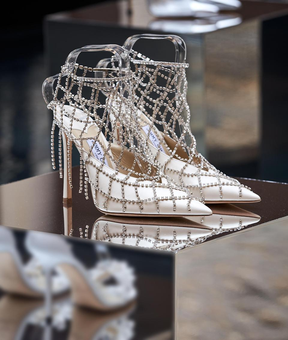 A Jimmy Choo spring '22 caged pump - Credit: Courtesy of Jimmy Choo
