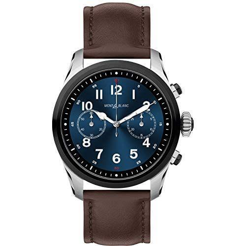 """<p><strong>MONTBLANC</strong></p><p>amazon.com</p><p><strong>$988.90</strong></p><p><a href=""""https://www.amazon.com/dp/B07KBBH9RL?tag=syn-yahoo-20&ascsubtag=%5Bartid%7C2139.g.33482000%5Bsrc%7Cyahoo-us"""" rel=""""nofollow noopener"""" target=""""_blank"""" data-ylk=""""slk:BUY IT HERE"""" class=""""link rapid-noclick-resp"""">BUY IT HERE</a></p><p>Stay connected on the go with battery life that lasts up to one week. Montblanc lives up to its refined design elements and Summit 2 features over 1,000 watch face combinations, all housed inside a 42mm case. Tap into a toolbox of heart rate, altimeter, accelerometer, and jet lag monitoring to ensure you make the most out of your personal fitness and leisure goals. Summit 2 is compatible with Apple and Android smartphones, and by connecting to Wear OS, you can stay connected even when you're away from your smartphone. </p>"""