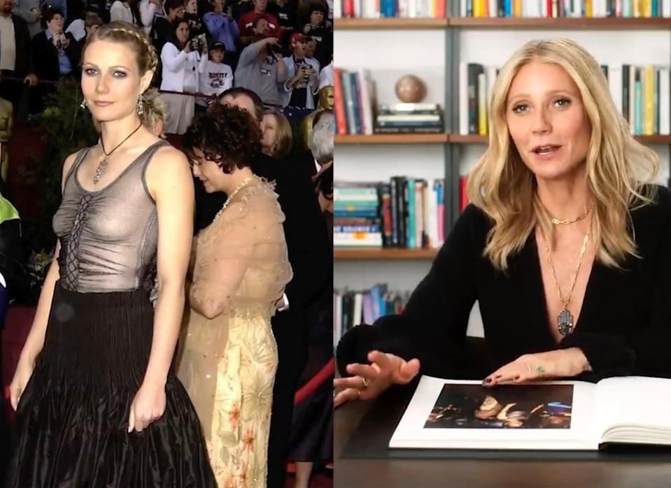 Gwyneth Paltrow discusses her infamous 2002 Oscar dress (Vogue)