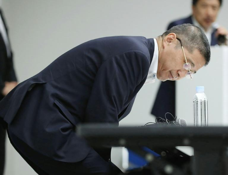 Former CEO Hiroto Saikawa resigned after it emerged he benefitted from a bonus scheme (AFP Photo/jiji press)