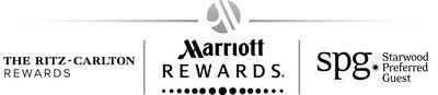Marriott Rewards, The Ritz-Carlton Rewards, and Starwood Preferred Guest logos