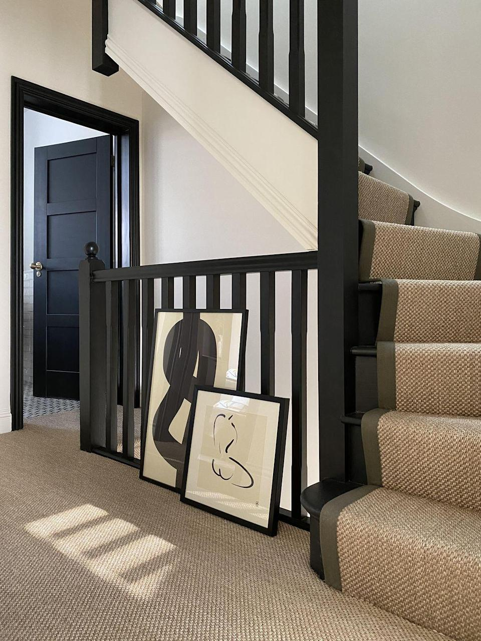 """<p>Carpet runners — decorative strips of carpet which run down the centre of a staircase — are all the rage on <a href=""""https://www.housebeautiful.com/uk/decorate/bedroom/g28786488/instagram-bedroom/"""" rel=""""nofollow noopener"""" target=""""_blank"""" data-ylk=""""slk:Instagram"""" class=""""link rapid-noclick-resp"""">Instagram</a>. Unlike fully carpeted options, runners aren't as wide as your steps as they leave a gap on the side. Typically installed over hardwood or tiled stairs, they are a brilliant choice for both modern and traditional homes.</p><p>'Runners can be fitted on the stairs either as a standard carpet, attached with stair rods or used as standalone hall runner,' says Jenna Kane, Product Development at <a href=""""https://www.kersaintcobb.co.uk/"""" rel=""""nofollow noopener"""" target=""""_blank"""" data-ylk=""""slk:Kersaint Cobb"""" class=""""link rapid-noclick-resp"""">Kersaint Cobb</a>.<br></p><p>Pictured: Carpet runner by <a href=""""https://www.fibreflooring.com/"""" rel=""""nofollow noopener"""" target=""""_blank"""" data-ylk=""""slk:Fibre Flooring"""" class=""""link rapid-noclick-resp"""">Fibre Flooring</a></p><p><strong>READ MORE</strong>: <a href=""""https://www.housebeautiful.com/uk/decorate/floors/g35783300/coir-doormats/"""" rel=""""nofollow noopener"""" target=""""_blank"""" data-ylk=""""slk:23 beautiful doormats to brighten up your home's entryway"""" class=""""link rapid-noclick-resp"""">23 beautiful doormats to brighten up your home's entryway</a></p>"""