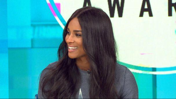 PHOTO: Singer Ciara announced AMA nominees in six categories live on 'GMA.' (ABC News)