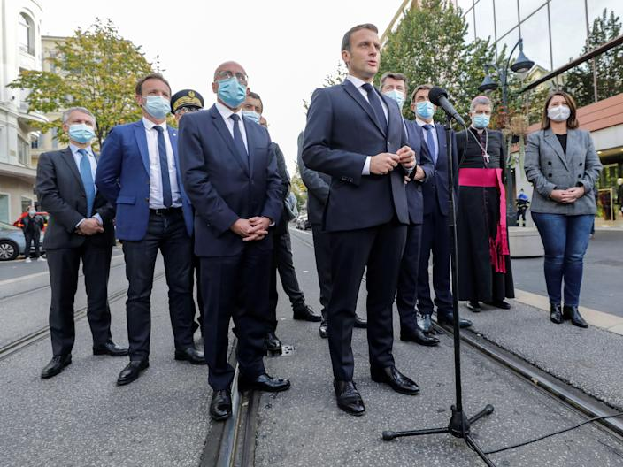 <p>Emmanuel Macron has taken a hard line in the days following events in Nice</p> (AFP via Getty Images)