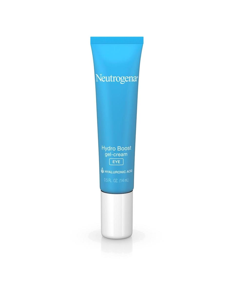 <p>Hyaluronic acid is the main ingredient in the <span>Neutrogena Hydro Boost Gel-Cream Eye</span> ($15), which hydrates and smooths the area beneath your eyes.</p>