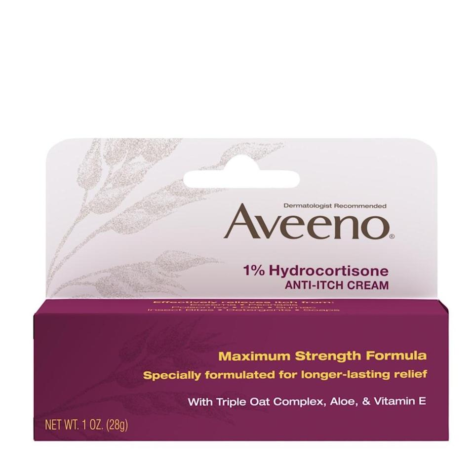 "<p>If your eczema is flaring up (as a result of all that handwashing, perhaps) this anti-itch cream from Aveeno can help relieve symptoms. We suggest storing it in the freezer for maximum soothing potential. </p> <p><strong>$5</strong> (<a href=""https://www.amazon.com/Aveeno-Maximum-Strength-Hydrocortisone-Anti-Itch/dp/B004XMI5O4"" rel=""nofollow noopener"" target=""_blank"" data-ylk=""slk:Shop Now)"" class=""link rapid-noclick-resp"">Shop Now)</a></p>"