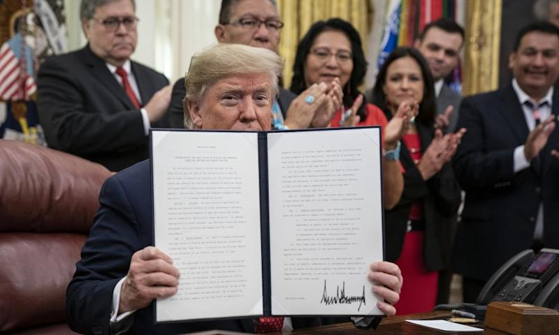 Trump signed an executive order creating the Task Force on Missing and Murdered American Indians and Alaska Natives.