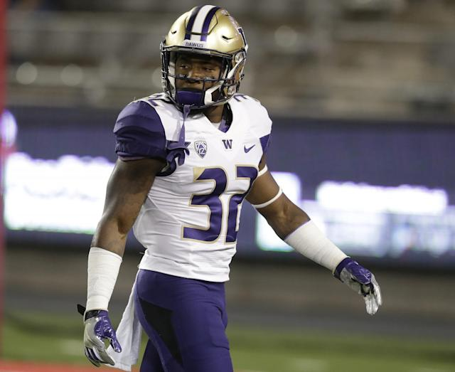 Washington S Budda Baker can pack a punch, but will his size limit him in the NFL? (AP)