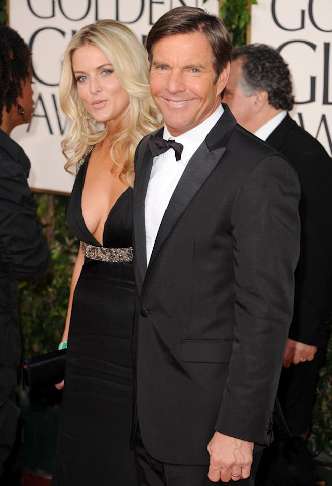 BEVERLY HILLS, CA - JANUARY 16:  Actor Dennis Quaid (R) and wife Kimberly Quaid arrives at the 68th Annual Golden Globe Awards held at The Beverly Hilton hotel on January 16, 2011 in Beverly Hills, California.  (Photo by Jason Merritt/Getty Images) *** Local Caption *** Kimberly Quaid;Dennis Quaid