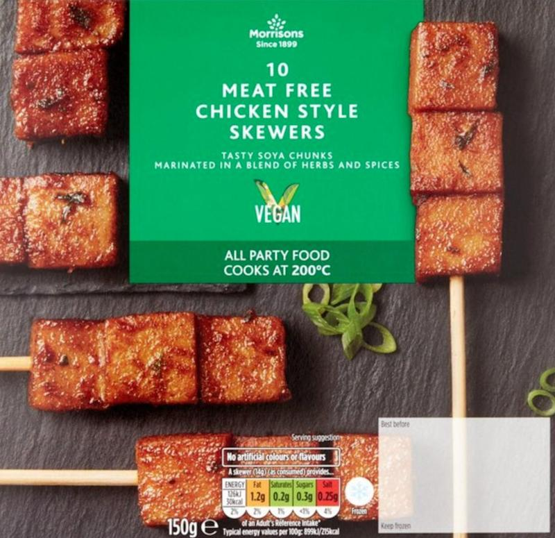 Vegan Chicken Style Skewers, Morrisons (Photo: HuffPost UK)