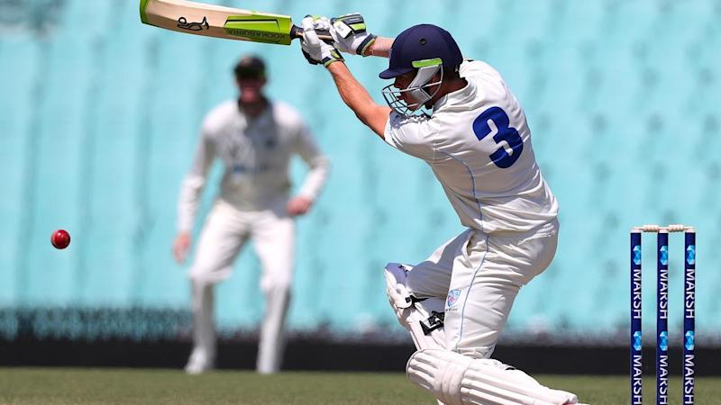 Daniel Hughes hit a half century in the opening session of NSW's Sheffield Shield match against WA
