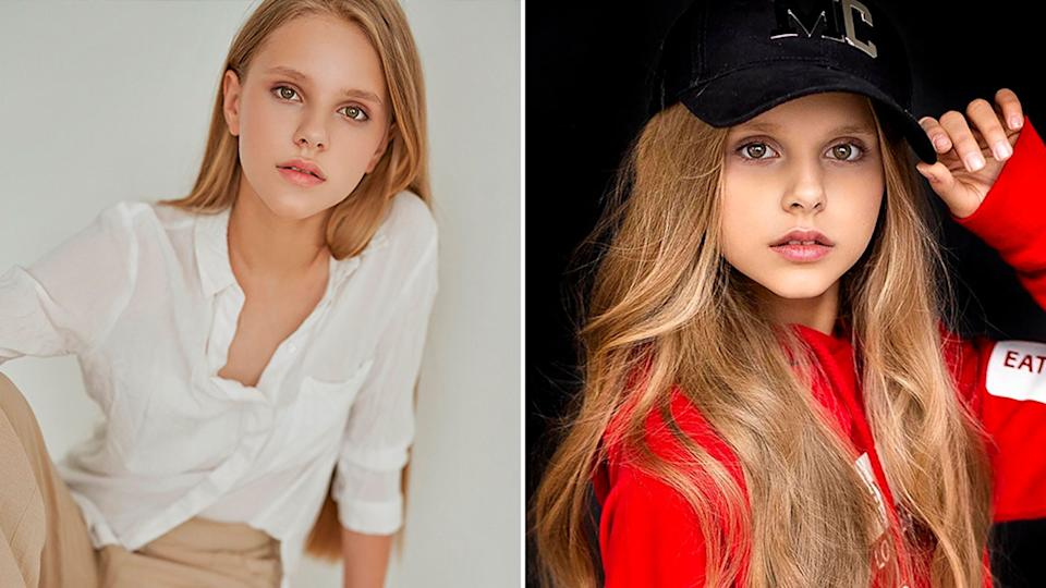 Varvara Vlasova, 12, was a successful child model. Source:  East2West/Australscope