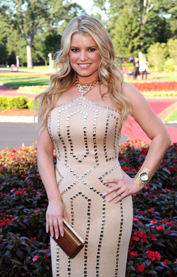 WHITE SULPHUR SPRINGS, WV - FILE:  Actress Jessica Simpson attends the grand opening of the Casino Club at The Greenbrier on July 2, 2010 in White Sulphur Springs, West Virginia.  Simpson Announced that she and fiance Eric Johnson are pregnant on October 31, 2011.   (Photo by Bryan Bedder/Getty Images)