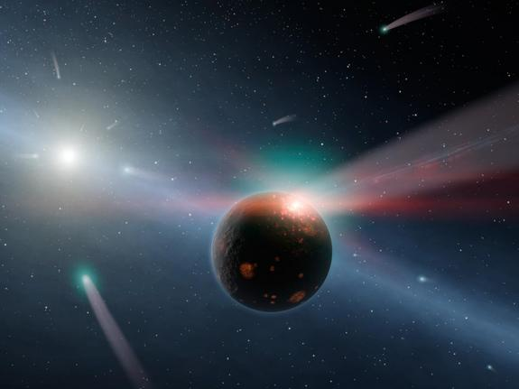 Did Comet Impacts Spur Life on Earth?