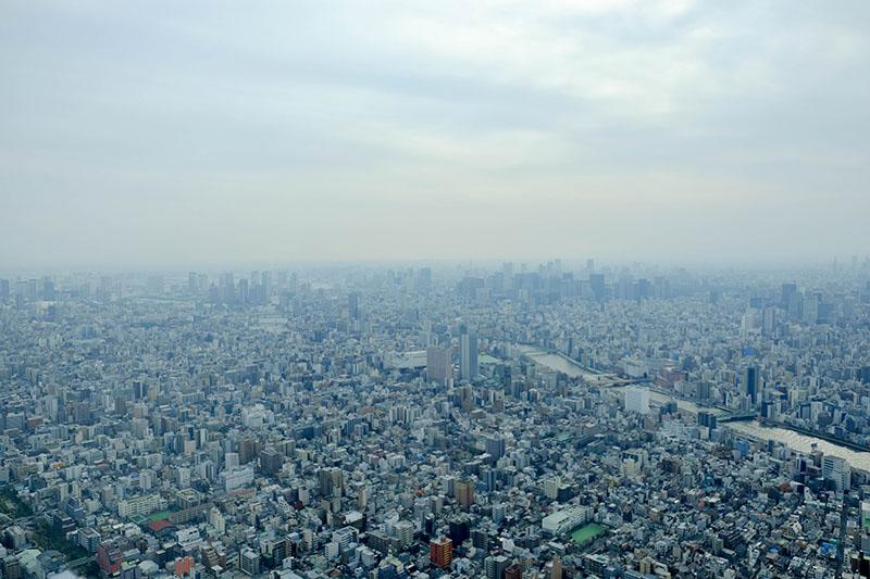 Tokyo is a sprawling metropolis with skyscrapers and buildings that stretch out as far as the eye can see.
