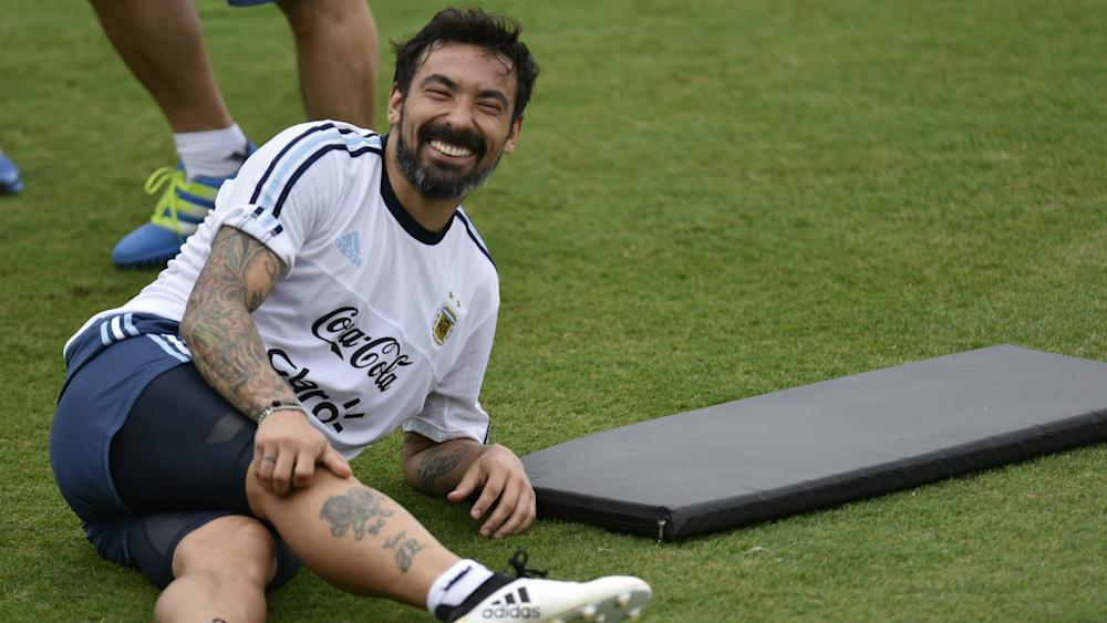 Lavezzi Argentina training Brazil WC 2018 South American qualifier