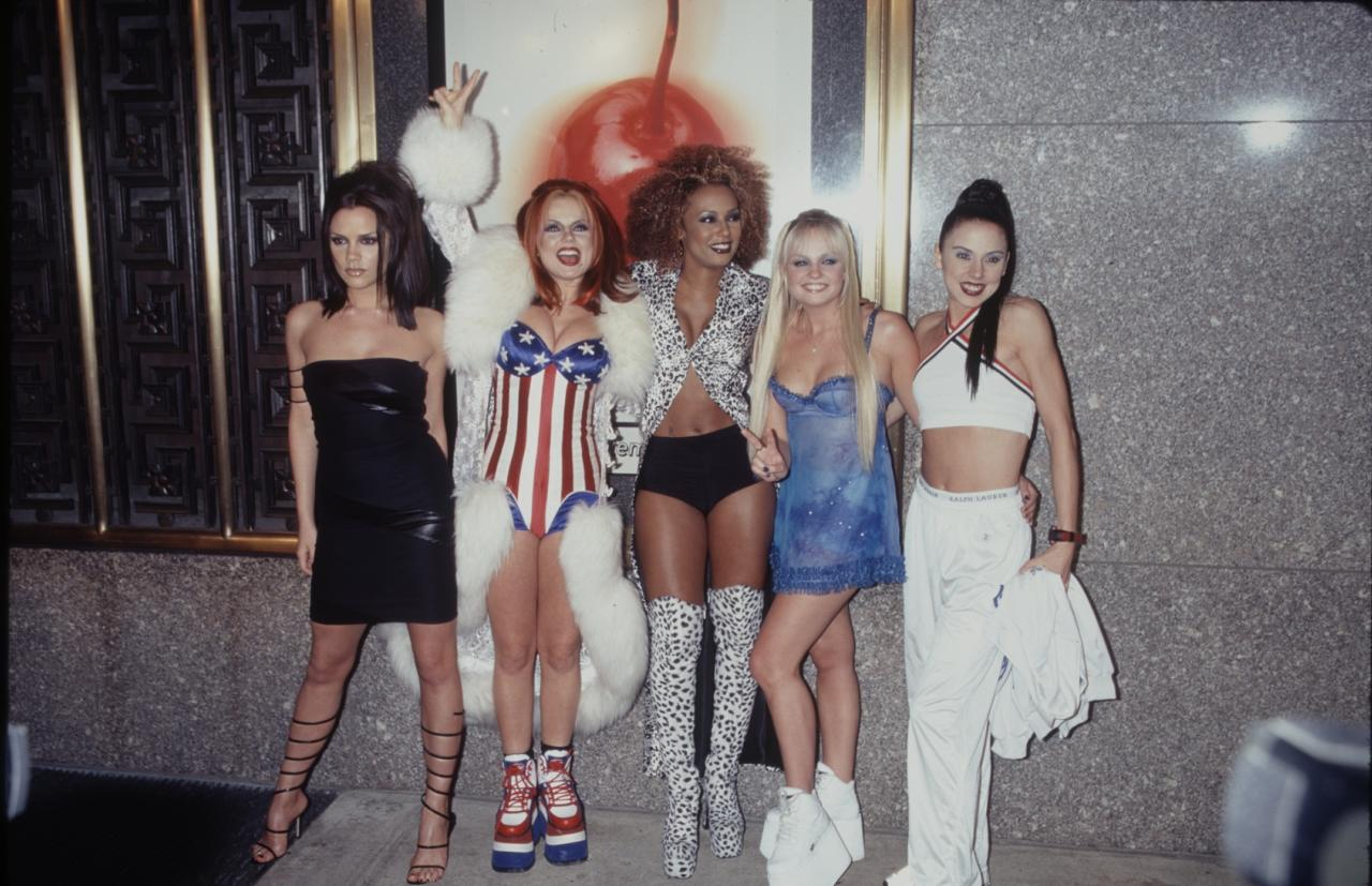 <p>Just one year after launching 'Wannabe', the Spice Girls were globally recognised not only for their music but their now-famous wardrobes. The question is: where can we bag Geri's coat? <em>[Photo: Getty]</em> </p>