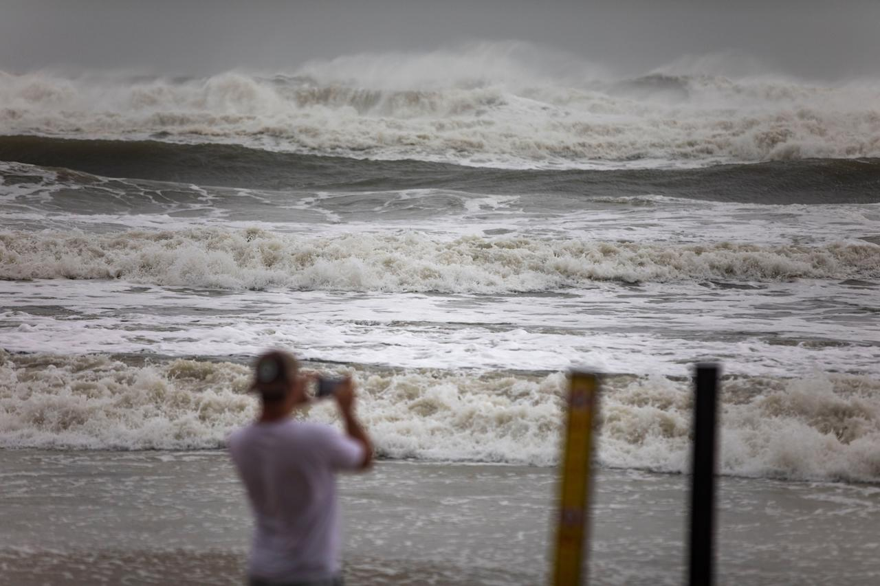 Waves from the Atlantic Ocean have increased in size as Hurricane Dorian passes 90 miles offshore in Ormond Beach, Florida on Sept. 4.  The now-Category 2 storm that was expected to hammer Florida has largely spared the state.