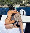"""<p>""""That's Amore,"""" the reality TV star captioned a photo posted to Instagram of her and her beau kissing during a romantic boat ride. </p>"""
