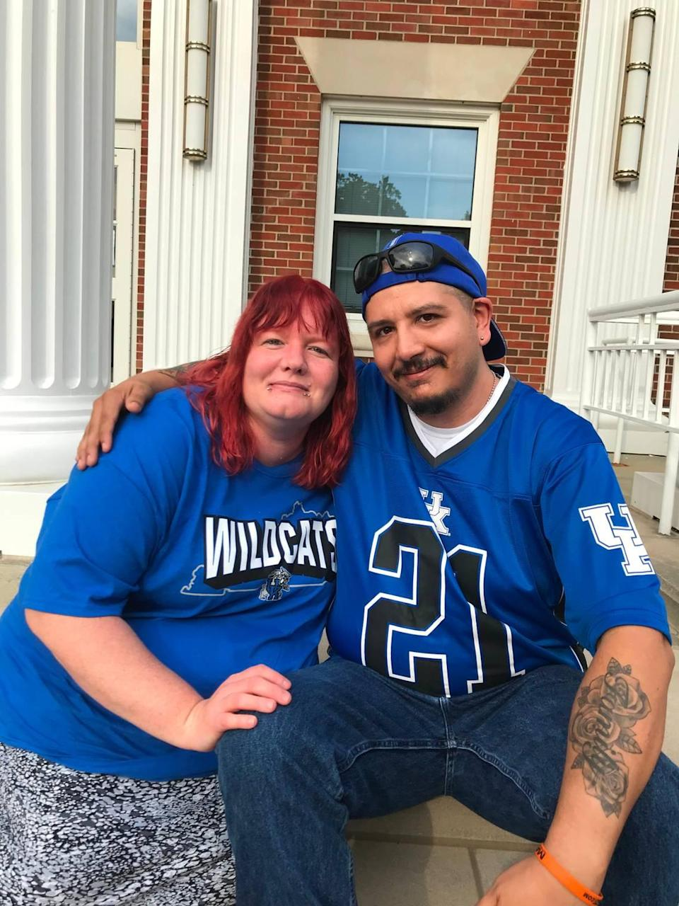 Monica and Jonathan Eaglefeather attended the Kentucky basketball players' Fans First Fan Event at Transylvania University on Saturday.