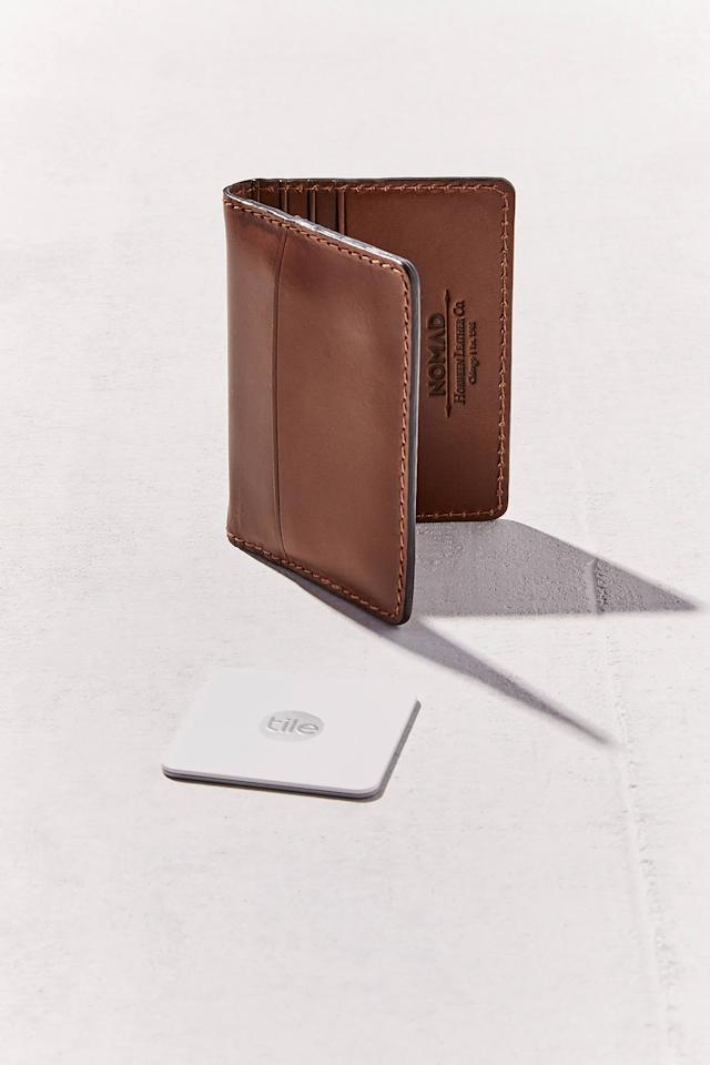 "<p>They'll never misplace your wallet again with this <a href=""https://www.popsugar.com/buy/Nomad-Tile-Wallet-416255?p_name=Nomad%20Tile%20Wallet&retailer=urbanoutfitters.com&pid=416255&price=80&evar1=savvy%3Auk&evar9=47175844&evar98=https%3A%2F%2Fwww.popsugar.com%2Fsmart-living%2Fphoto-gallery%2F47175844%2Fimage%2F47176085%2FNomad-Tile-Wallet&list1=shopping%2Cgadgets%2Cgifts%20for%20men&prop13=api&pdata=1"" rel=""nofollow"" data-shoppable-link=""1"" target=""_blank"" class=""ga-track"" data-ga-category=""Related"" data-ga-label=""https://www.urbanoutfitters.com/shop/nomad-tile-wallet?category=cell-phone-accessories&amp;color=020&amp;type=REGULAR"" data-ga-action=""In-Line Links"">Nomad Tile Wallet</a> ($80).</p>"
