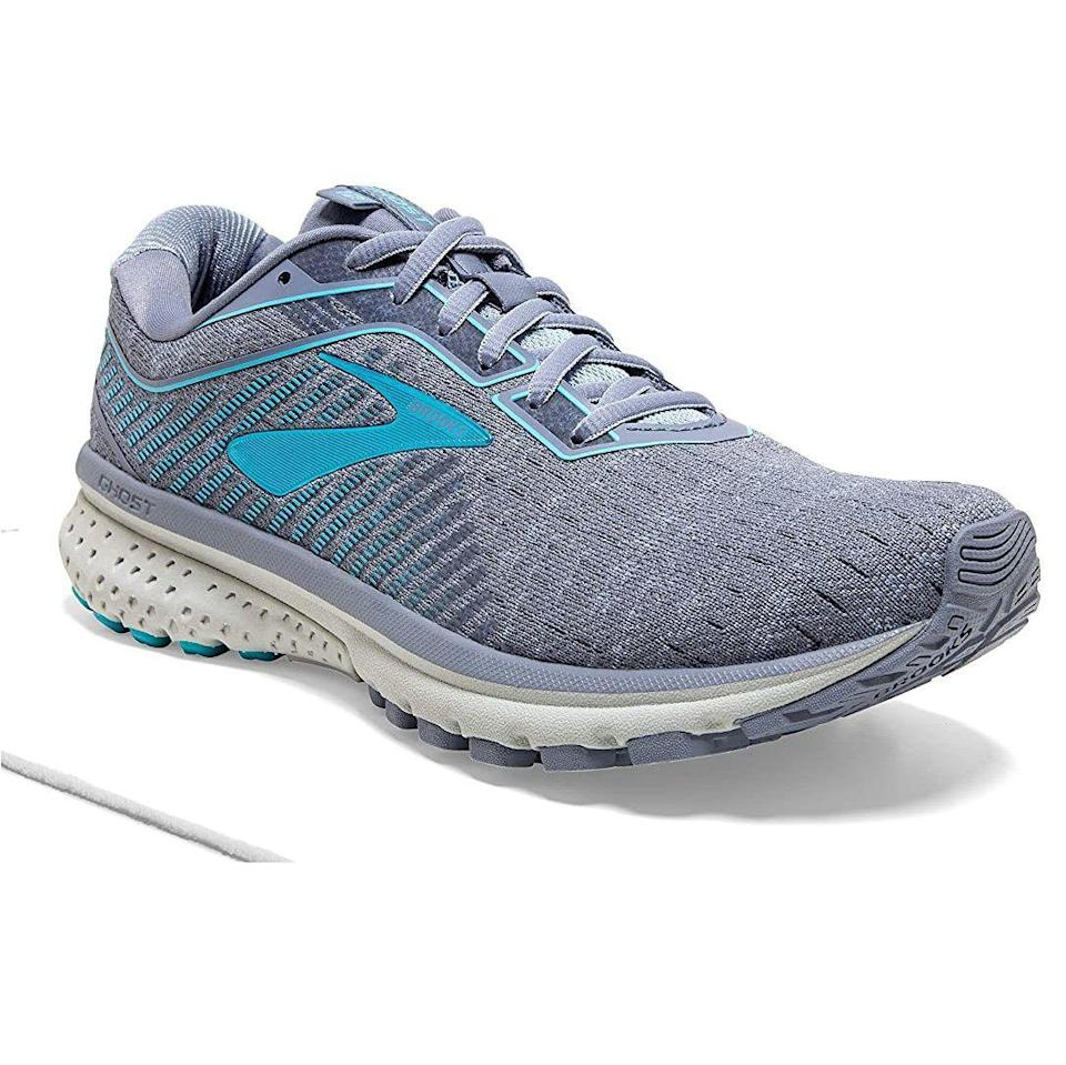 """<p><strong>Brooks</strong></p><p>amazon.com</p><p><strong>$129.95</strong></p><p><a href=""""https://www.amazon.com/dp/B07STDQXZW?tag=syn-yahoo-20&ascsubtag=%5Bartid%7C10055.g.32379201%5Bsrc%7Cyahoo-us"""" rel=""""nofollow noopener"""" target=""""_blank"""" data-ylk=""""slk:Shop Now"""" class=""""link rapid-noclick-resp"""">Shop Now</a></p><p>When running on a treadmill, you want to wear sneakers that provide excellent stability. Online reviewers rave that the Brooks Ghost 12 running shoes keep you steady, ideal for beginners and experts alike. It has the brand's """"Segmented Crash Pad outsole"""" with<strong> a system of shock absorbers for a smooth run</strong>. Available in 32 colors, you are sure to find a style you'll love. Note that these shoes are not designed for underpronators.</p>"""