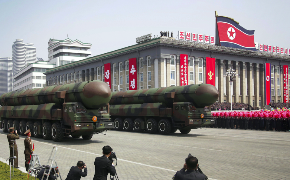 <em>Experts are divided on how capable North Korea's missiles are of reaching US soil (Rex)</em>