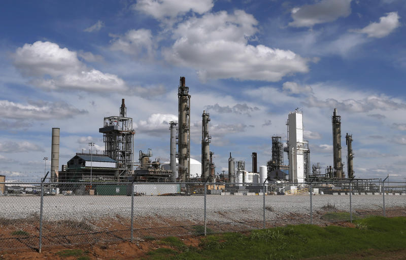 This June 6, 2013 photo shows the Koch Nitrogen Company in Enid, Okla. The company plans to add a new fertilizer production plant at this facility, part of a wave of new fertilizer plant construction and expansion being proposed across the United States. Newly abundant supplies of natural gas, a key fertilizer component, are behind plans that promise to bring jobs to mostly rural locations around the country. But they come as a deadly explosion at a fertilizer plant in Texas highlighted how dangerous some of the chemicals used to make fertilizer can be, and how inconsistently they're regulated. (AP Photo/Sue Ogrocki)