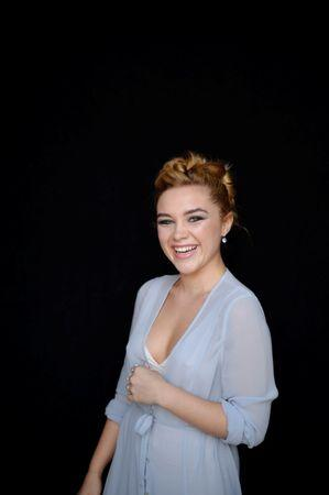 English actress Florence Pugh poses at the San Sebastian Film Festival