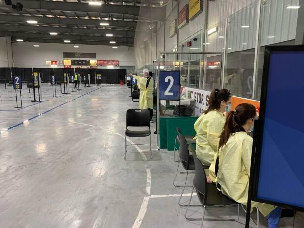 The WFCU Centre is one of five mass vaccination clinics in Windsor-Essex in southestern Ontario. (Katerina Georgieva/CBC - image credit)