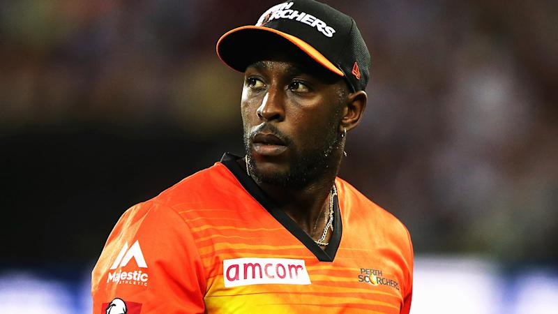 Michael Carberry is pictured playing for the Perth Scorchers in 2015.