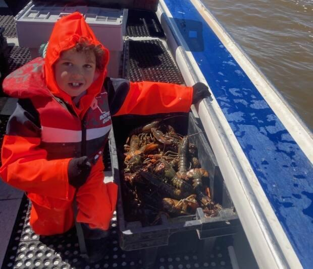"""Trent Collins' favourite part of fishing was """"gaffing the buoys"""" at the end of the day and pulling up the traps alongside his grandfather."""