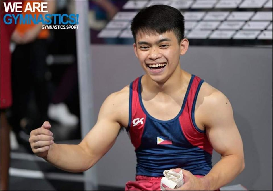 Filipino gymnast Carlos Yulo is set to represent the Philippines in the Tokyo Olympics. (Photo: Gymnastics Association of the Philippines/Facebook)