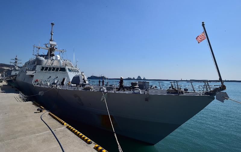 The US government has approved an $11 billion deal to sell Saudi Arabia four advanced warships, based on the US Navy''s Littoral Combat Ship like the USS Fort Worth, pictured on March 14, 2015