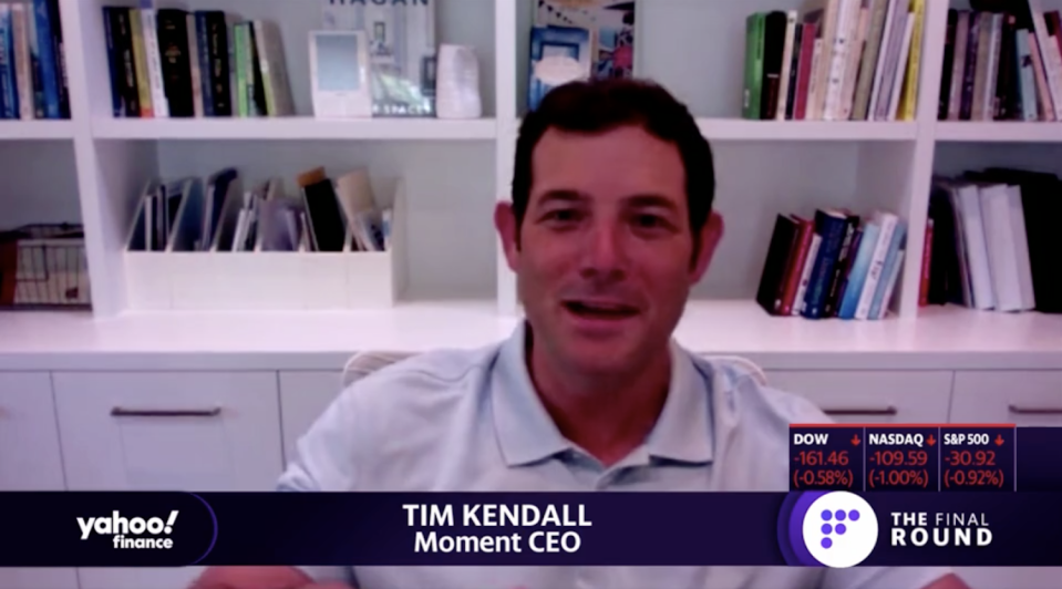 Moment CEO Tim Kendall speaks to Yahoo Finance.