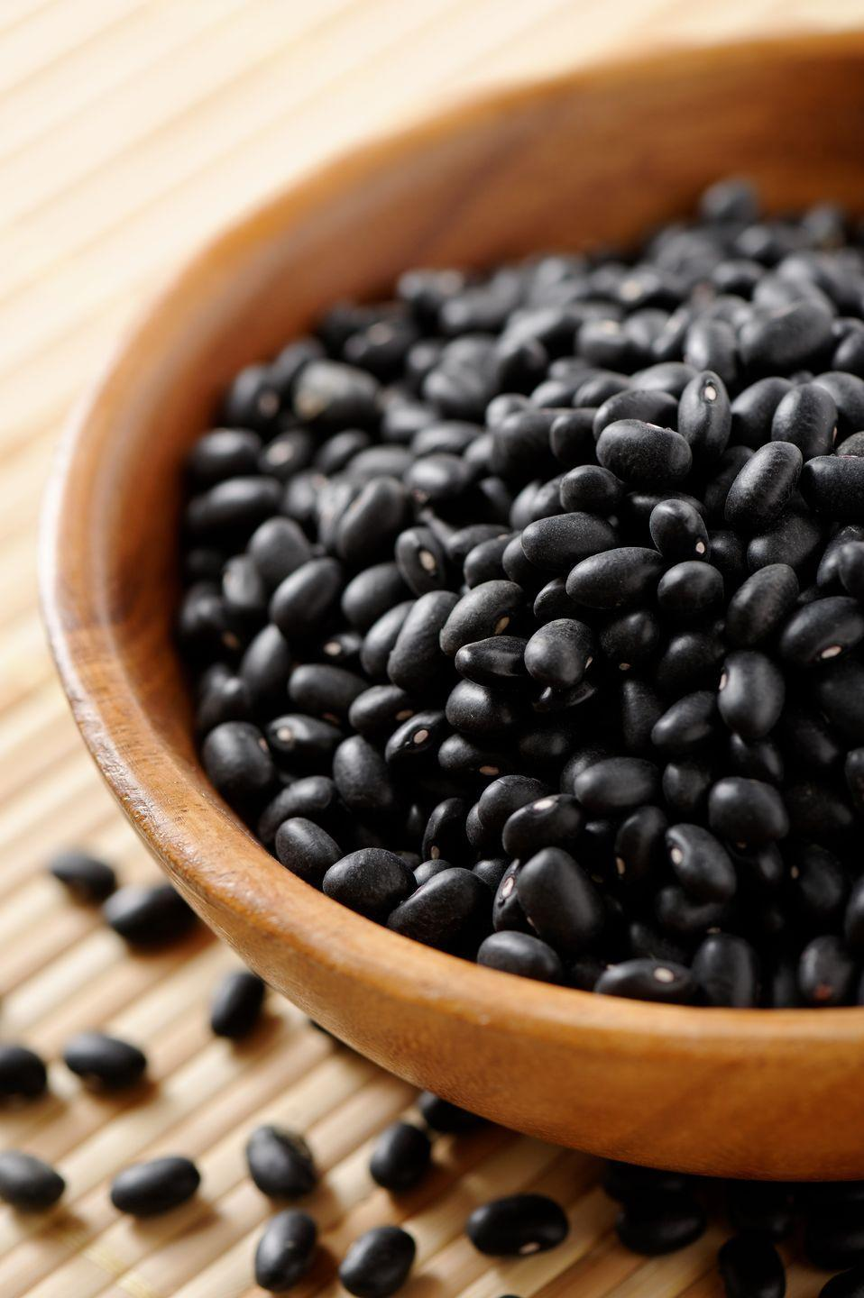 "<p><a href=""https://www.goodhousekeeping.com/health/diet-nutrition/a20088526/black-beans-nutrition/"" rel=""nofollow noopener"" target=""_blank"" data-ylk=""slk:Black beans"" class=""link rapid-noclick-resp"">Black beans</a> are even more fiber-dense, with 8 grams in a half-cup, 100-calorie serving. You'll get plenty of filling plant-based protein too. </p>"